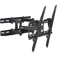 VonHaus Double Arm Articulating Cantilever TV Bracket Wall Mount with Tilt- for 23-56 LCD LED Plasma Flat Panels - Heavy Gage Reinforced Steel - Strong 100lbs Weight Capacity