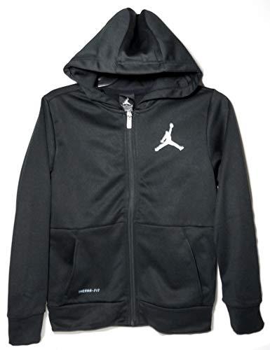 Therma Fit Jacket - NIKE Jordan Jumpman Boys Therma Fit Zip Hoodie Jacket Black Medium