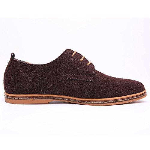 Uomo Oxford Men Marrone Stringate Scarpe Basse Oxford SHELAIDON Shoes Pelle Scarpe Uomo di naq8zcwSxU