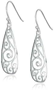 Sterling Silver Filigree Teardrop Earrings