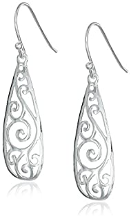 Sterling Silver Filigree Teardrop Earrings (B0069GO032) | Amazon Products