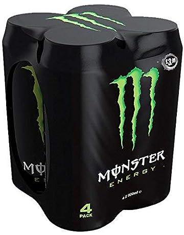 Monster - Green, Bebida energética, 500 ml (Pack de 4), Lata