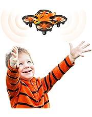 HELIFAR H803 Mini RC Drone, Operado a Mano Mini Quadcopter Drone, 2,4 GHz 6 Ejes Drone de prevención colisión de Infrarrojos, Altitude Hold, Interactivo Drone para niños, Principiantes, Dos baterias