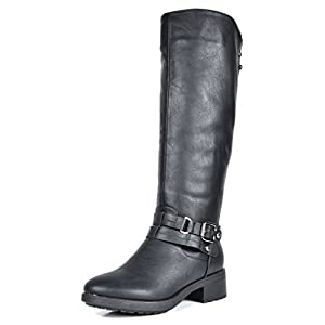 DREAM PAIRS Women's Uncle Black Knee High Motorcycle Riding Winter Boots Size 10 M US