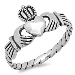 .925 Sterling Silver Claddagh Ring