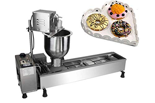 KUNHEWUHUA Automatic Donut Maker Machine Stainless Steel Doughnut Making Frying Machine with 3 sizes Molds 110V/220V