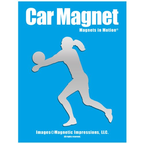 Volleyball Player Female Car Magnet Chrome