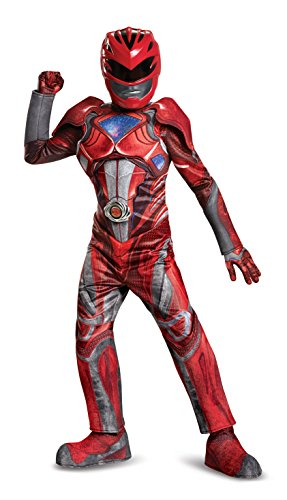 Red Power Ranger Movie Prestige Costume, Medium (7-8) - Boys Red Power Ranger Costumes
