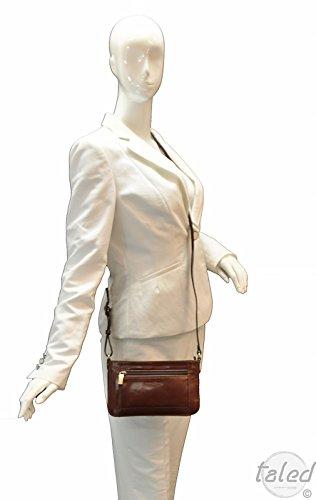 Gianni Conti apos;Borsa a mano da QUALITÀ PREMIUM in pelle–Marrone–Made in Italy–modello Lilli