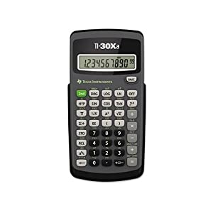 TI-30Xa Scientific Calculator, 10-Digit LCD, Sold as 2 Each