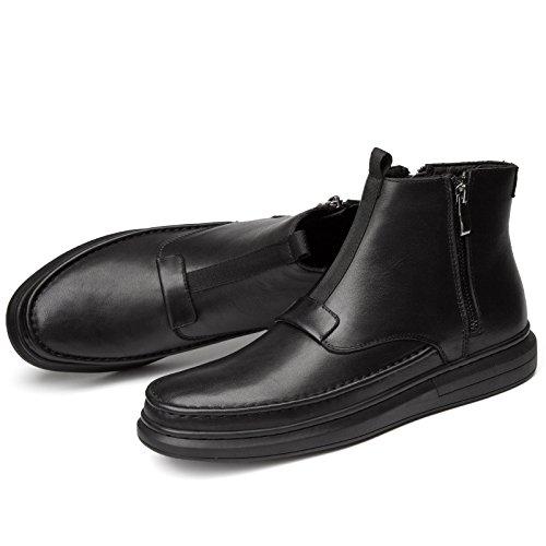 Tacco Spillo Black Uomo a Piatto Martin Stivaletti Warm Casual Bottom da grqAg5