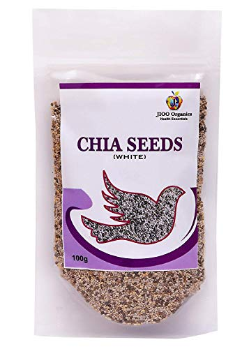 Jioo Organics Chia Seeds (Rich in Antioxidant &Omega3 Fatty Acid) Pack of 100 g ()