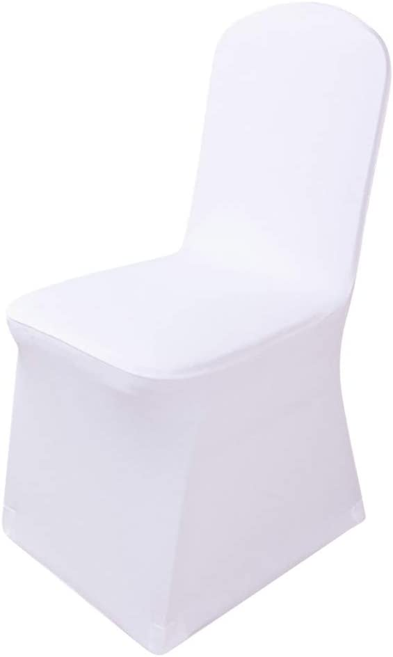 lotus.flower Universal Flat Arched Front Covers Spandex Chair Cover Slipcovers Dining Chair Seat Cover for Wedding Christmas Party Banquet Home Decoration (A)