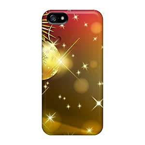 OjpDruu7000FFvRT Case Cover, Fashionable Iphone 5/5s Case - Colorful Christmas Glowing