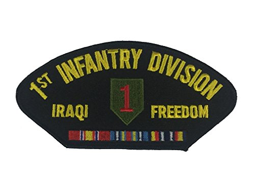 (1ST INFANTRY DIVISION IRAQI FREEDOM VETERAN PATCH with ribbons and 1st ID crest - Color - Veteran Owned Business)