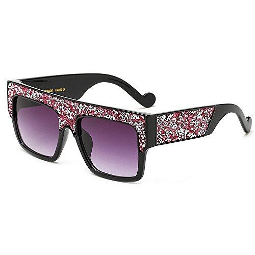 gran de Cuadrado de las al la forma UV para de libre de de cristal de de aire mujeres conducción Gafas sol sol protección tamaño grandes de Rosado Playa vacaciones Champagne la Color verano de gafas wH7PnX8q