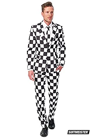 Checked Black White Suitmeister Adult Costume M