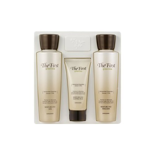 Korean Cosmetics_Welcos The First Green Tea Moisture Hyo 2pc Gift Set