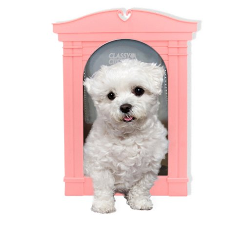 Classy Custom Sherbert Alley Decorative Pet Door Frame, Very Pink, - Decorative Pet Frame Door