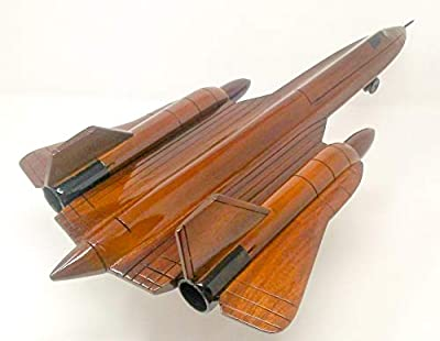 SR-71 Replica Airplane Model Hand Crafted with Real Mahogany Wood