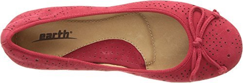 625 Accent (Earth Women's Allegro Bright Red Silky Suede 8.5 B US)