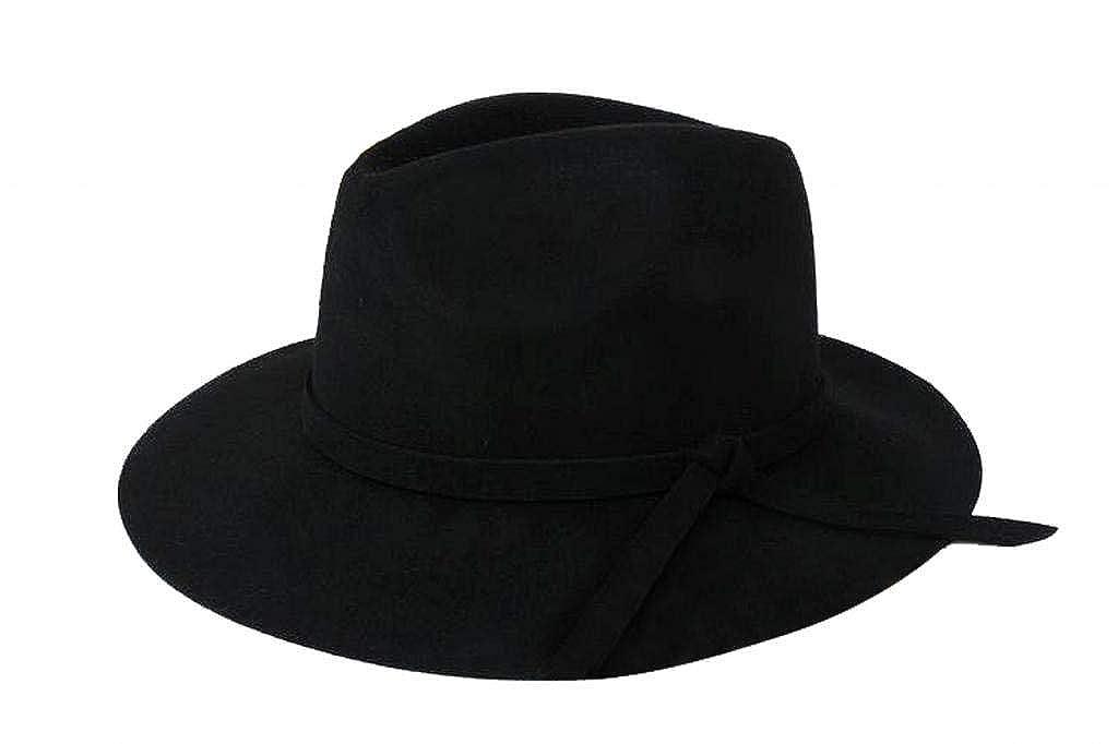 HaiDean Sombreros Sombrero De Campana Otoño Hombres Unisex Mujeres Invierno Modernas Casual Sombrero De Fieltro Sombrero De Fieltro Negro Alcance 57Cm ...