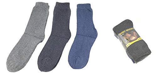 Mens All Season Work Boot Sock 3 Pair Value Pack