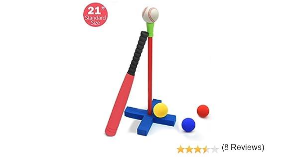 CELEMOON Juego de pelotas de béisbol y bolas de espuma blanda, 4 ...