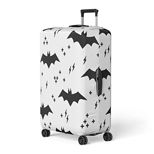 Pinbeam Luggage Cover Abstract Pattern Bats Halloween Animal Autumn Baby Black Travel Suitcase Cover Protector Baggage Case Fits 18-22 -