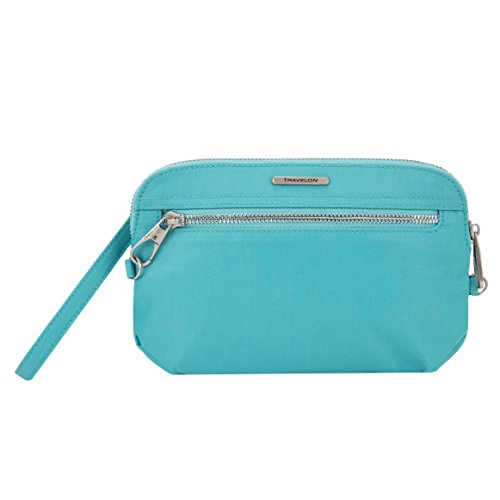 Travelon Women's Anti-theft Tailored Convertible Crossbody Clutch Cross Body Bag, - Clutch Handbag Convertible