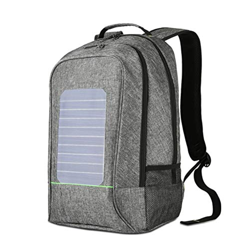 ZHANGQIAN Ect Charger With Solar Backpack Powered Panel For In Emergency Built Grey Camping Cell Hiking Backpacking Backup Outdoors Solar Battery Iphone Phone RzrqwR