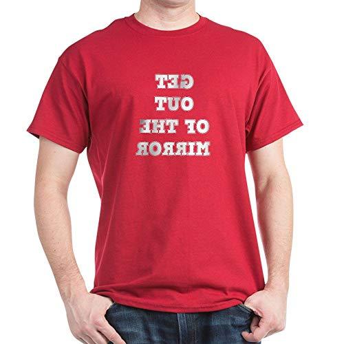 - CafePress Get Out of The Mirror Reverse Text T Shirt 100% Cotton T-Shirt Cardinal