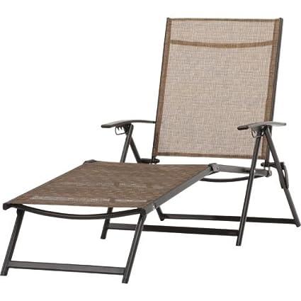 Mosaic Folding Sling Chaise Lounge
