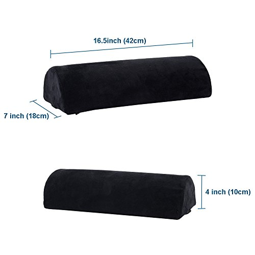 Memory Foam Bolster Pillows for Sleeping, Neck, Sciatica, Pregnancy, Legs, Knees Pain Relief Low Back Support for Office Chairs and Car Seats Semi Roll Pillow with Adjustable strap and Washable Cover by Qutool (Image #4)