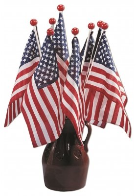 - Annin Flagmakers US safety miniature flag 4 in x 6 in Poly-Cotton