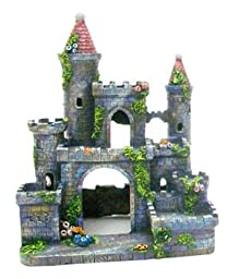 Pen-Plax RR693 Medieval Castle of Germany Aquarium Ornament, Small