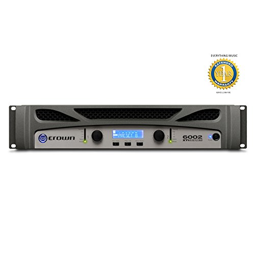 Crown Xti Amps - Crown XTi 6002 2-channel, 2100W 4 ohms Power Amplifier with Microfiber and Free EverythingMusic 1 Year Extended Warranty