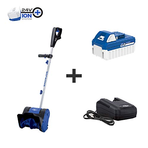Snow Joe 24V-SS10 24-Volt 10-Inch 4-Ah Cordless Snow Shovel, Kit (w/4-Ah Battery + Quick Charger)