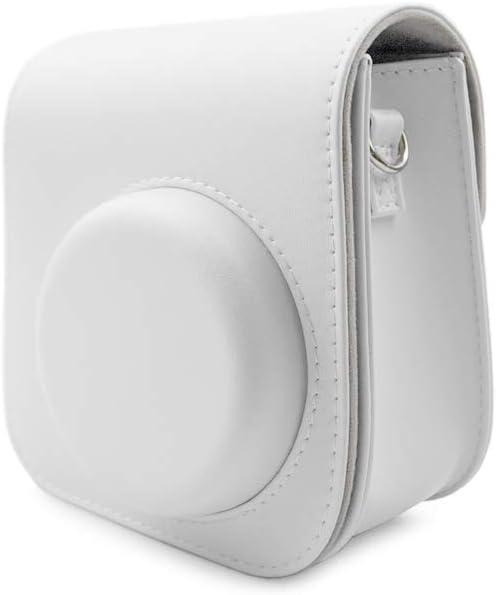 Funda FUJI Instax Mini 11 funda protectora para Fujifilm Instax Mini 11 Bag Color S/ólido Bolsa de transporte de piel sint/ética con pegatinas para fotos MUZIRI KINOKOO