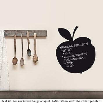 your design - Lavagna adesiva da parete, a forma di mela, nero, 35 x ...