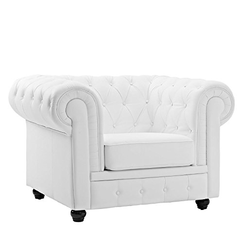Classic Scroll Tufted Bonded Leather