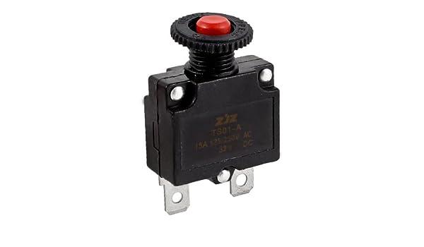 Amazon.com : eDealMax AC125V pulsador del compresor de aire del interruptor automático Protector de sobrecarga : Sports & Outdoors