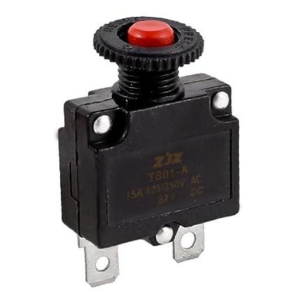 DealMux AC125V pulsador del compresor de aire del interruptor automático Protector de sobrecarga