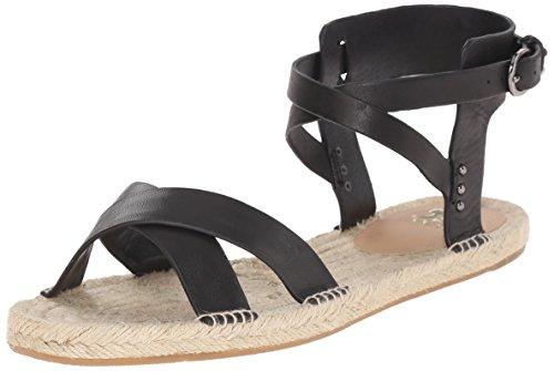 Joe's Jeans Women's Tiger Espadrille Sandal, Black, 8.5 M US