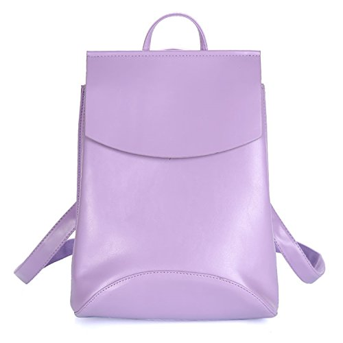 Fashion Female Women Backpacks Bag Teenage Purple Bagpack Shoulder Leather School Girls For Backpack 1AZq1