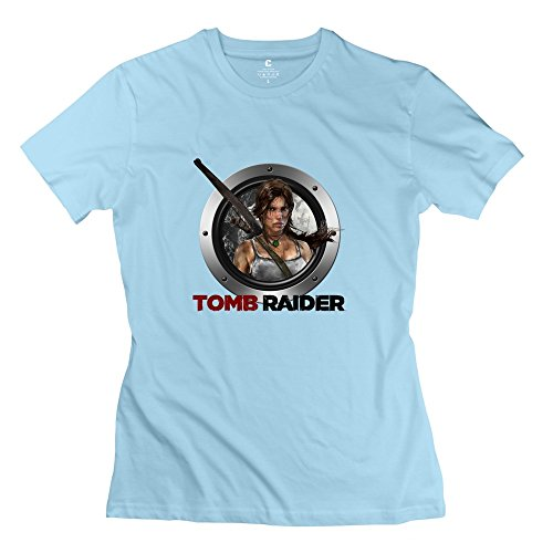 tomb-raider-awesome-100-cotton-skyblue-t-shirts-for-lady-size-l