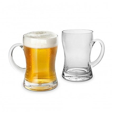 Final Touch Set of 2 Beer Mugs GG5007 Mouth-Blown Ale Glasses With Sturdy Handle 22 oz / 650 ml