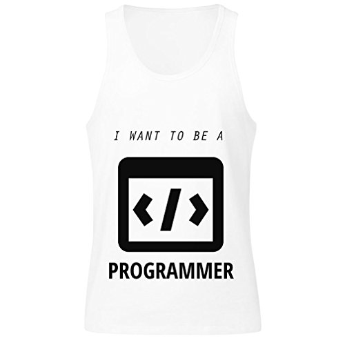 I Want To Be A Programmer, More, Less, Equal Signs Men's Tank Top Shirt Extra Large