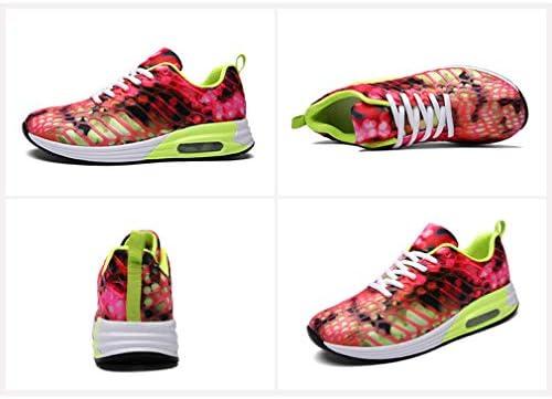 chenqi Chaussures de Course sur Route pour Femmes Air Shock Absorbantes Chaussures de Marche à Lacets en Mesh Respirant Sports Sneakers
