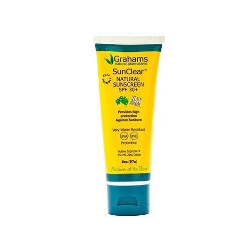 Grahams Natural Sunscreen - Grahams Natural USA, SunClear Natural Sunscreen SPF 30 1.76oz